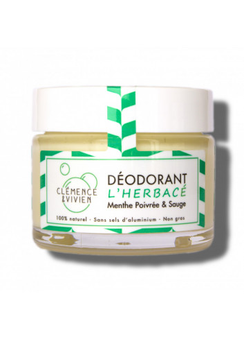 Déodorant crème L'Herbacé - Sauge & menthe poivrée