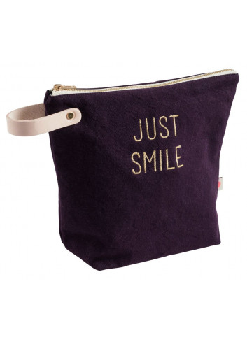 """Trousse """" Just Smile"""" - Mûre (grand modèle) la Cerise sur Le Gateau"""
