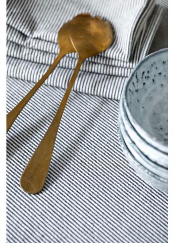 2 Serviettes de table - Finette caviar coton La cerise sur le gateau