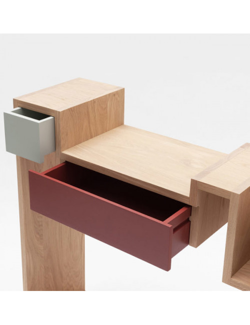 Console Glycine personnalisable made in France en chêne massif