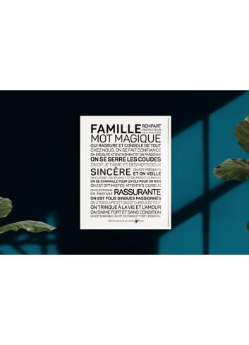 """Affiche """"Famille"""" A2 Les Mots à l'Affiche"""