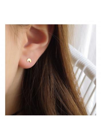 Boucles d'oreille dorées - Arc-en-ciel Adorabili