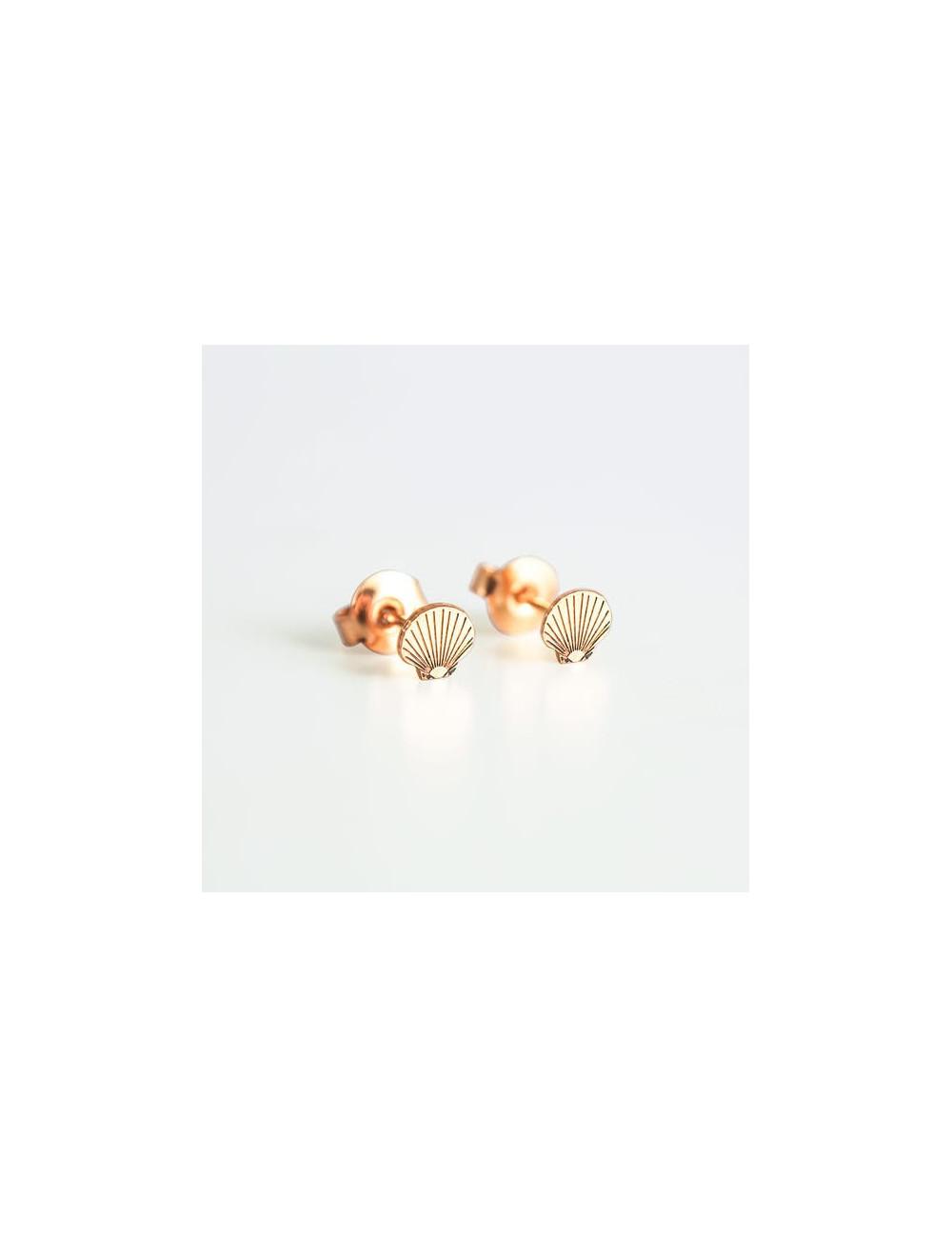 Boucles d'oreille dorées - Coquillages Adorabili