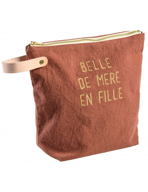 """Trousse """" belle de mère en fille"""" - Rhubarbe (grand modèle) la Cerise sur Le Gateau"""