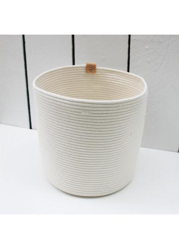 Cache-pot XL - Écru en coton fabriqué en Belgique