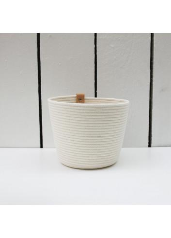 Cache-pot M - Écru en coton fabriqué en coton