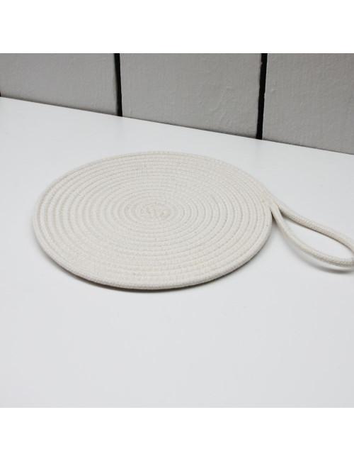 Dessous de plat en coton - Écru en coton fabriqué en Belgique