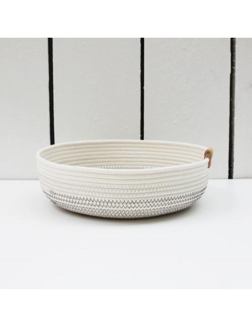 Panier bas M - Shades of grey en coton fabriqué en Belgique