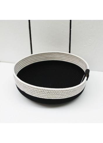Panier bas M - Noir & blanc en coton fabriqué en Belgique