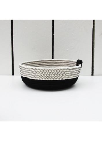 Panier bas - Noir & blanc en coton fabriqué en Belgique