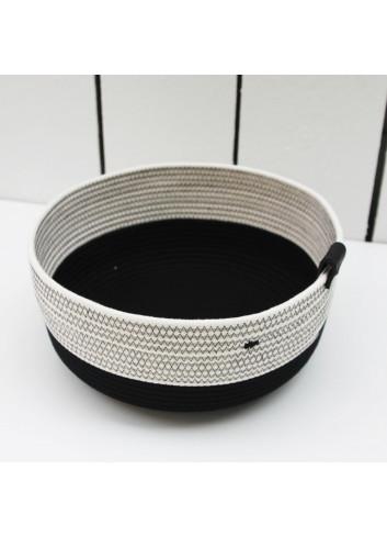 Panier haut - Noir & blanc en coton fabriqué en Belgique