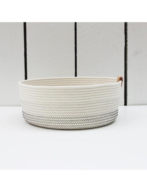 Panier haut blanc en coton fabriqué en Belgique