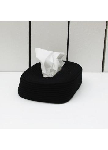 Boite à mouchoir en coton - Noir