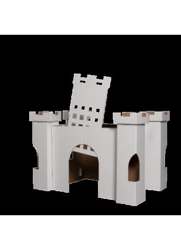 Château en carton - à colorier