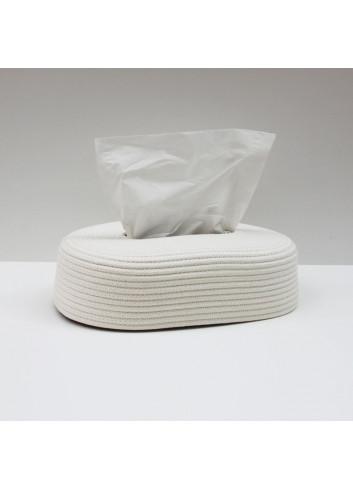 Boite à mouchoir en coton - Blanc