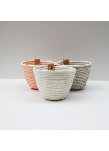 Pot en coton - Écru Koba fabriqué à la main en Belgique