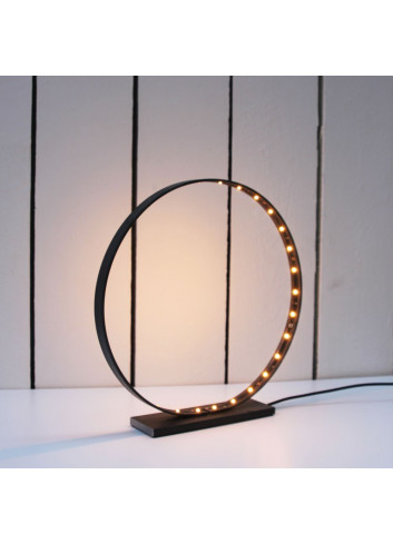 Lampe circulaire Acier & Led -Small