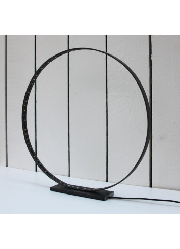 Lampe circulaire Acier & Led - Medium