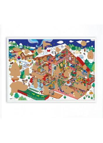 Calendrier de l'Avent à gratter géant - Atelier du Père-Noël Omy