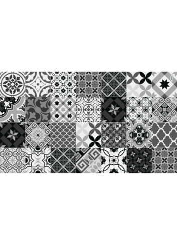 Set de table vinyle Patchwork - Black