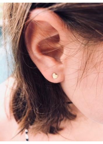 Boucles d'oreille dorées - Coeurs Adorabili