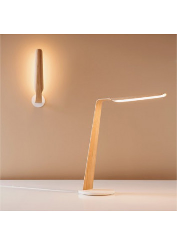 Lampe Swan - Chêne & Qi wireless charging pad Tunto