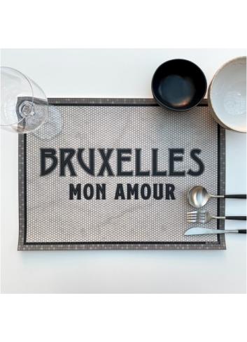 Set de table en vinyle - Bruxelles mon amour