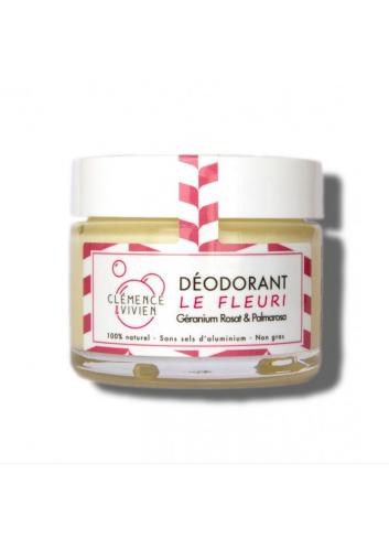 Déodorant crème Le Fleuri - Géranium Rosat & Palmarosa