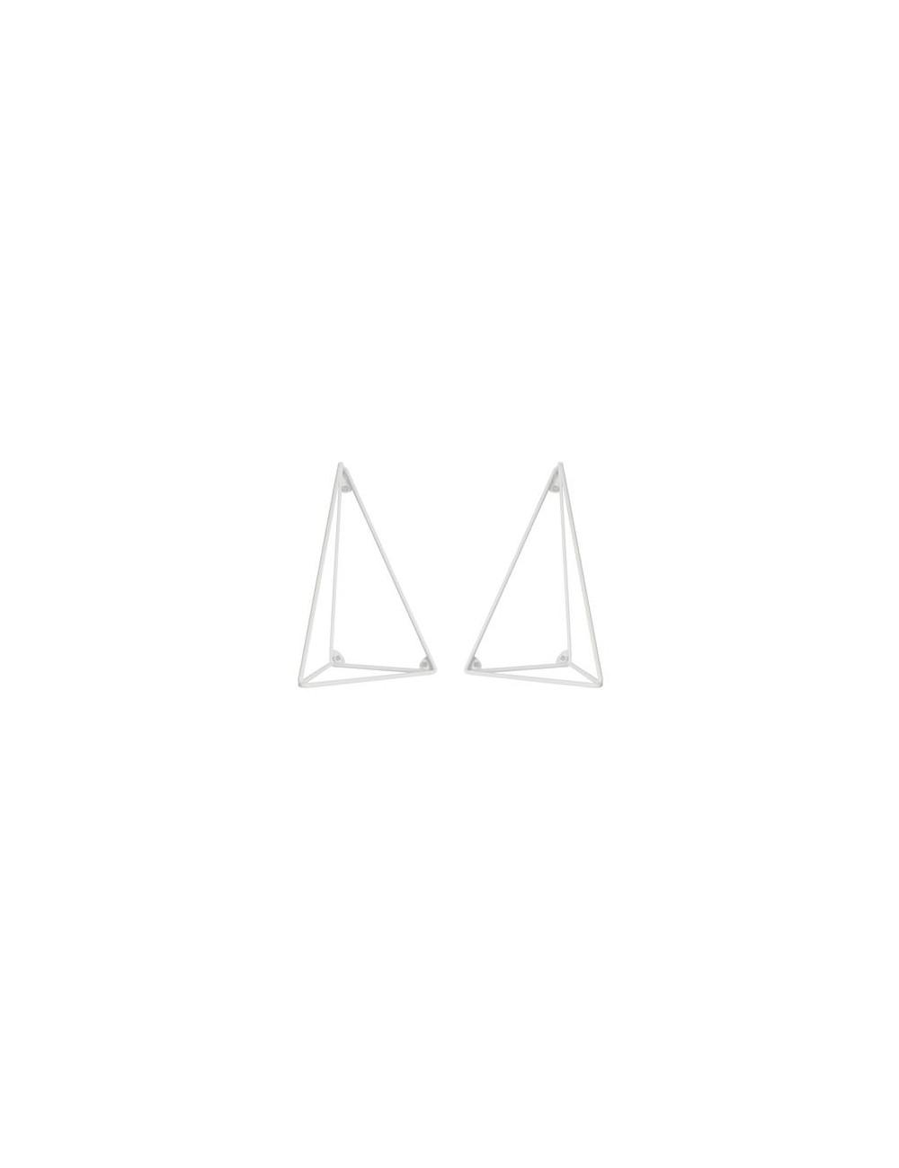Lot de 2 équerres Pythagoras - Blanc