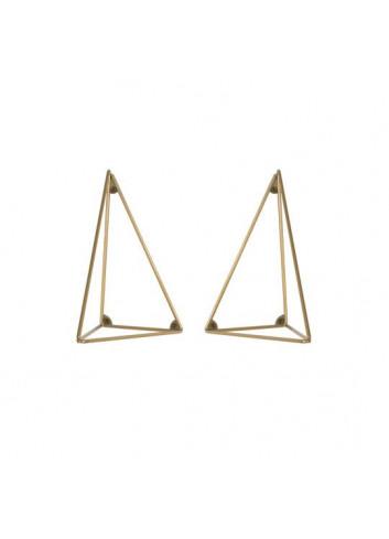 Lot de 2 équeres Pythagoras - Laiton