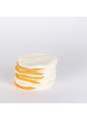 Pancakes - 3 Cotons démaquillants réutilisables + Pochon de voyage