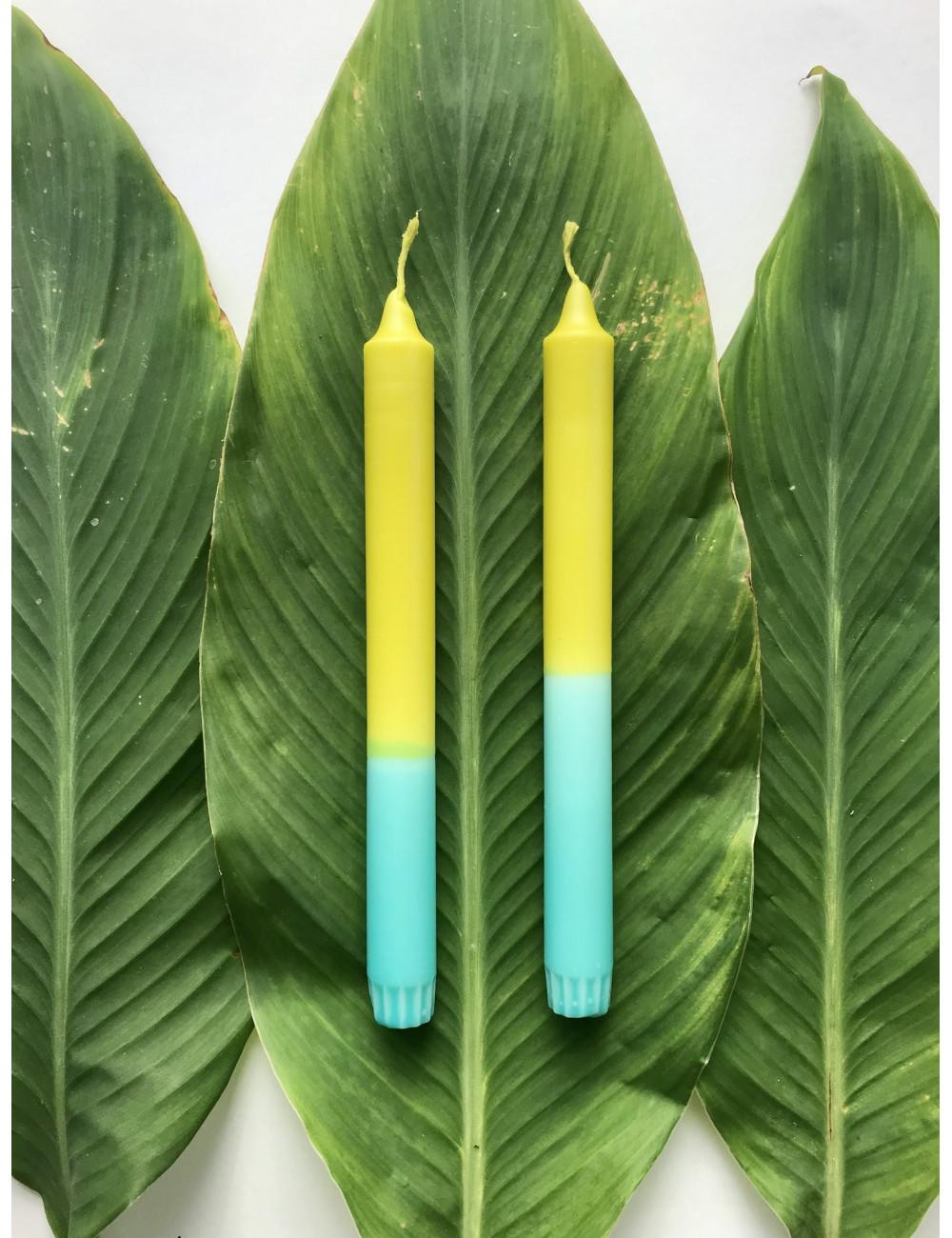 Bougie naturelle Vert & Cyan