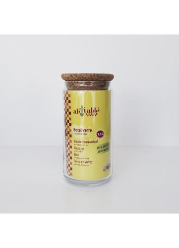 Bocal en verre et bouchon en liège - 1,5 L