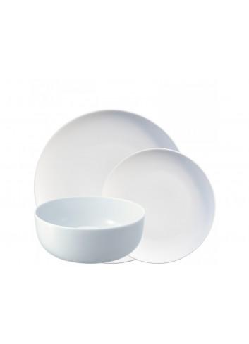 Coffret d'assiettes en porcelaine