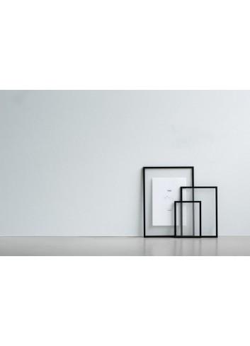 Cadre format A5 - aluminium laqué noir