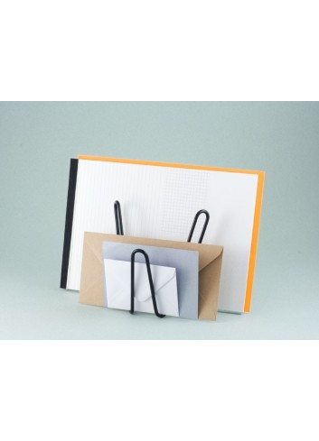 Porte document/courrier en métal - Blanc