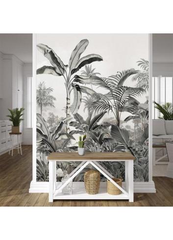Papier peint en toile tissée - Jungle tropicale de la marque française Podevache