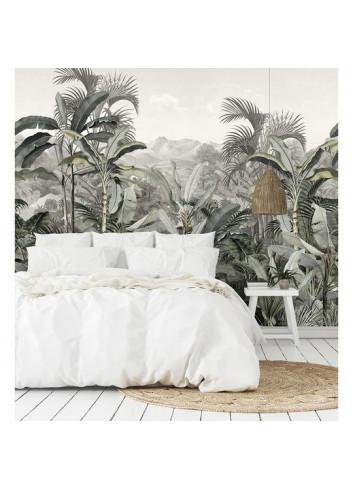 papier peint jungle en toile tissée