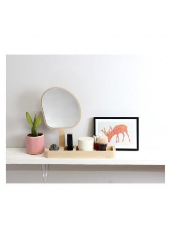Kagami- le miroir vide-poche - fabrication française- bois