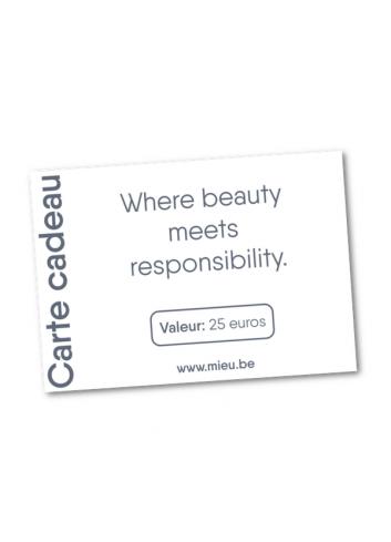Carte cadeau MIEU électronique -25 euros