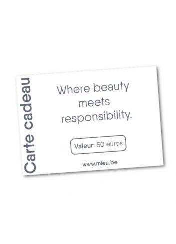 Carte cadeau MIEU électronique -50 euros