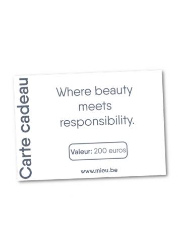 Carte cadeau MIEU électronique - 200 euros