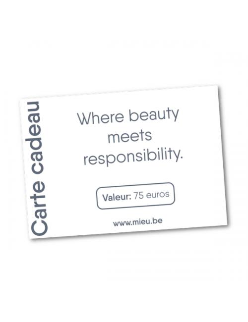Carte cadeau MIEU électronique - 75 euros