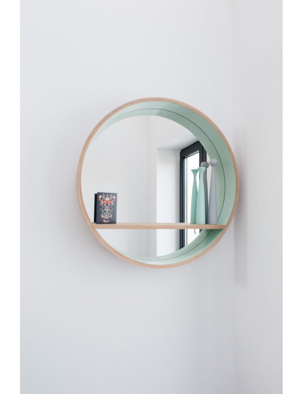 Miroir console 80 Vert Blanc