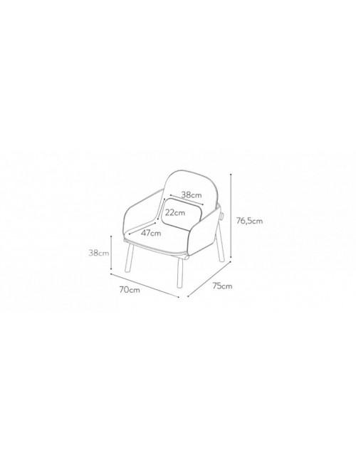 fauteuil George vert d'eau fabriqué en Europe harto
