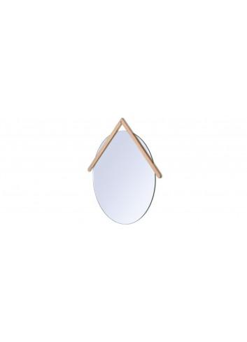 Miroir Lubin harto chêne et verre fabriqué au Portugal