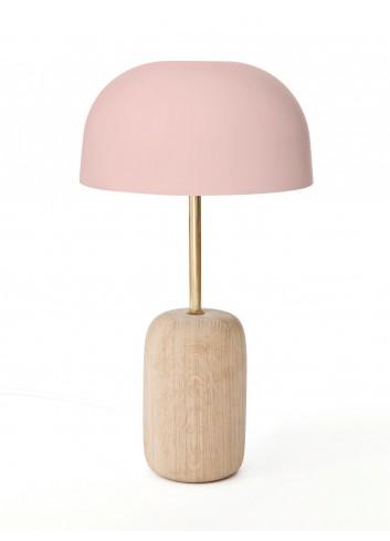 Lampe à poser Nina - bois - rose - harto- fabriquée au portugal- luminaire
