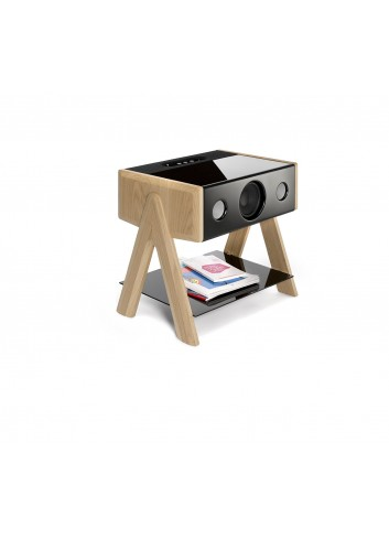 Cube - Chêne - made in france-La boite concept - enceinte hifi