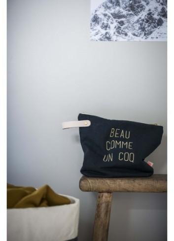 """Trousse de toilette """"Beau comme un coq"""" fabriquée au Portugal La cerise sur le gateau"""