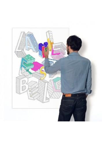Affiche géante à colorier- La vie est belle